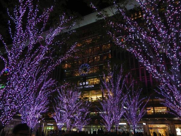JR博多駅・桜のイルミネーション