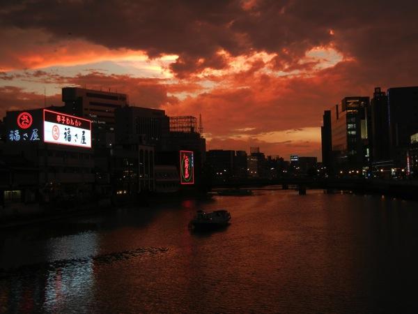 中洲那珂川沿い・夕焼け