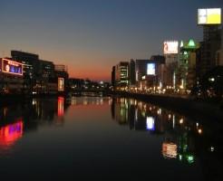 中洲那珂川沿い夕焼け