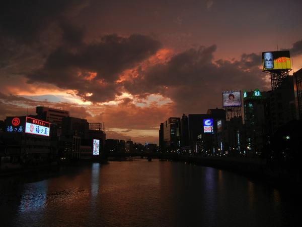 中洲・那珂川沿い・夕焼け